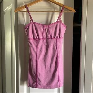 Lululemon Pink Fitted Tank Top